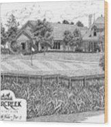 18th Hole - Deercreek Country Club Wood Print