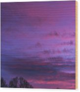 Appalachian Afterglow Wood Print