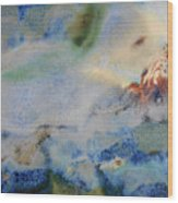 19. Blue Green Brown Abstract Glaze Painting Wood Print
