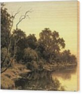 Johnstone Henry James A Backwater Of The River Murray South Australia Henry James Johnstone Wood Print