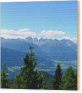 K Landscape Wood Print