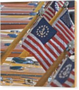 Stars And Stripes Wood Print