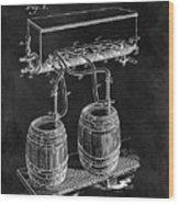 1900 Beer Cooler Wood Print