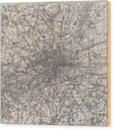 1900 Gall And Inglis' Map Of London And Environs Wood Print