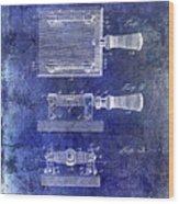 1900 Knife Switch Patent Blue Wood Print