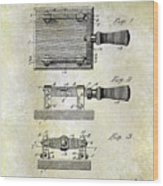 1900 Knife Switch Patent Wood Print