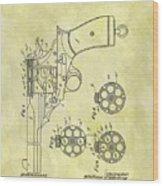 1901 Automatic Revolver Patent Wood Print