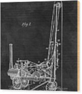 1902 Oil Well Patent Wood Print