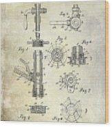 1903 Beer Tap Patent Wood Print