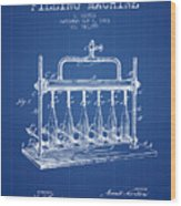 1903 Bottle Filling Machine Patent - Blueprint Wood Print