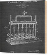 1903 Bottle Filling Machine Patent - Charcoal Wood Print