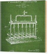 1903 Bottle Filling Machine Patent - Green Wood Print
