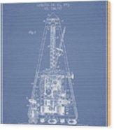 1903 Electric Metronome Patent - Light Blue Wood Print