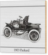 1903 Packard Wood Print by Jack Pumphrey