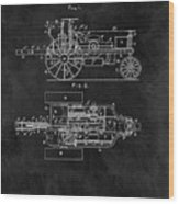1903 Tractor Blueprint Patent Wood Print