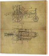 1903 Tractor Patent Wood Print