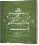 1903 Type Writing Machine Patent - Green Wood Print