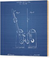 1904 Metronome Patent - Blueprint Wood Print