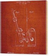 1904 Metronome Patent - Red Wood Print