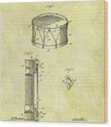 1905 Drum Patent Wood Print