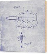 1906 Oyster Shucking Knife Patent Blueprint Wood Print