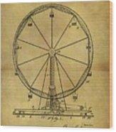 1907 Ferris Wheel Patent Wood Print