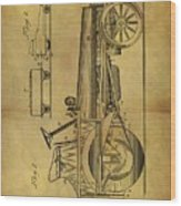 1907 Tractor Patent Wood Print