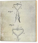 1909 Cork Extractor Patent Wood Print