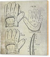 1910 Baseball Glove Patent  Wood Print