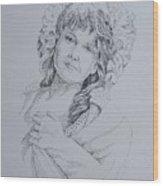 1910 Lady Wood Print