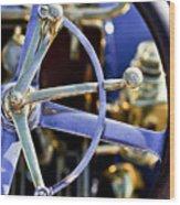 1910 Pope Hartford T Steering Wheel Wood Print