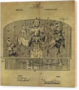 1910 Toy Circus Patent Wood Print