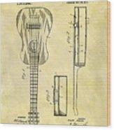 1911 Guitar Patent Wood Print
