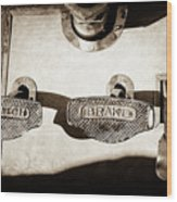 1911 Pope Hartford Model W Control Pedals -135s Wood Print
