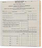 1913 Federal Income Tax 1040 Form. The Wood Print