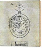 1913 Pocket Watch Patent Wood Print