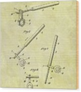 1913 Wrench Patent Wood Print
