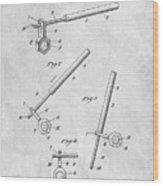 1913 Wrench Patent Illustration Wood Print