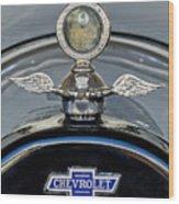 1915 Chevrolet Touring Hood Ornament 2 Wood Print