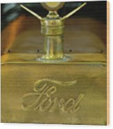 1915 Ford Depot Hack Hood Ornament 3 Wood Print