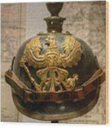 1915 Prussian Artillery Spiked Pickelhaube Helmut Wood Print