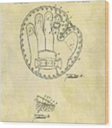 1916 Baseball Glove Patent Wood Print