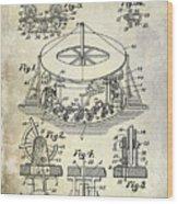 1916 Merry Go Round Patent Wood Print
