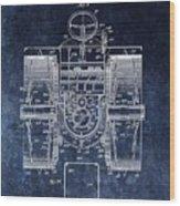 1916 Tractor Illustration Wood Print