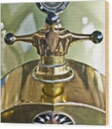 1917 Owen Magnetic M-25 Hood Ornament 2 Wood Print