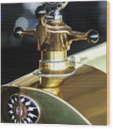 1917 Owen Magnetic M-25 Hood Ornament Wood Print