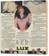 1917 Soap Ad  Wood Print