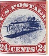 1918 Inverted Jenny Stamp Wood Print