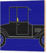 1919 Ford High Body Model T Coupe Wood Print