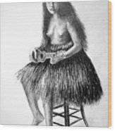 1919 Hawaiian Girl Wood Print